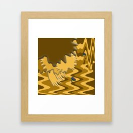 Shades of Brown Waves Framed Art Print