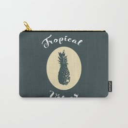 Tropical Vibes (teal) Carry-All Pouch