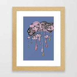 Rainbow Raindops Framed Art Print