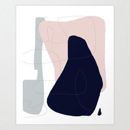 Pastel Shapes Abstract Art Print