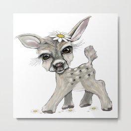 Bambi Dear Metal Print