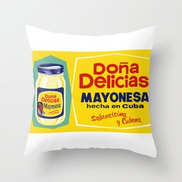 DONA DELICIA MAYONESA Throw Pillow