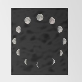 Moon Stages Throw Blanket