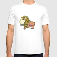ox MAJESTIC LEO xo Mens Fitted Tee White MEDIUM