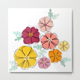 Fancy Floral Metal Print
