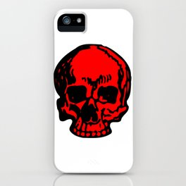 Red Pirate Skull, Vibrant Skull, Super Smooth Super Sharp 9000px x 11250px PNG iPhone Case