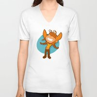 cancer V-neck T-shirts featuring Cancer by Chiara Zava