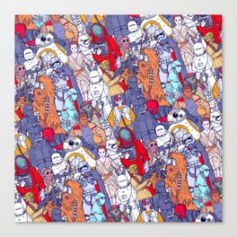 Smaller Space Toons in Color Canvas Print