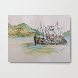 Boat on Loch Ness Metal Print