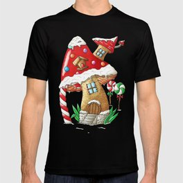 Mushroom gingerbread house T-shirt