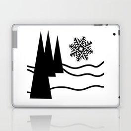 Christmas Trees and Snow Laptop & iPad Skin