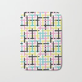 Criss Cross Weave Hand Drawn Vector Pattern Background Bath Mat