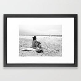 Koreans love to surf Framed Art Print