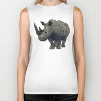 rhino Biker Tanks featuring Rhino by Dusty Goods