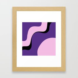 violet ice Framed Art Print