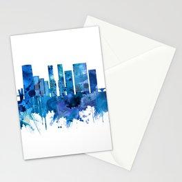 Bilbao Spain Skyline Blue Stationery Cards