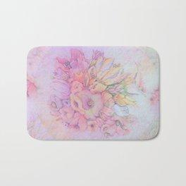 Flowers in pastels Bath Mat