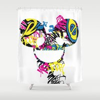 deadmau5 Shower Curtains featuring Deadmau5 by Sitchko Igor