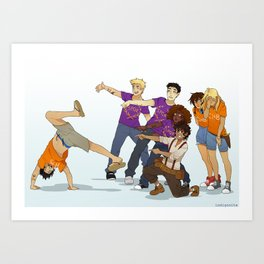 Demigod Squad Art Print