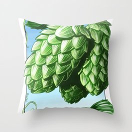 Hops! Throw Pillow
