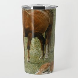 Horse And Foal Travel Mug