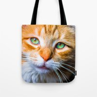 sam smith Tote Bags featuring Sam by thliii