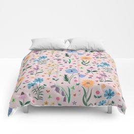 Spring Garden Tossed Pattern Comforters