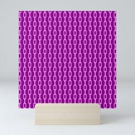Chainlink No. 1 -- Violet Mini Art Print