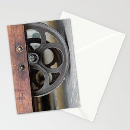 Center Wheel Vintage Wooden Dolly Warehouse Cart Stationery Cards