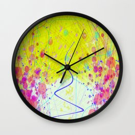Barnsley Wisteria Day Glow Wall Clock