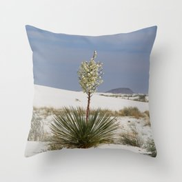 White Sands Soap Yucca Throw Pillow