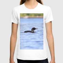 Watercolor Bird, Common Loon 03, Kejimkujic, Nova Scotia, Canada T-shirt