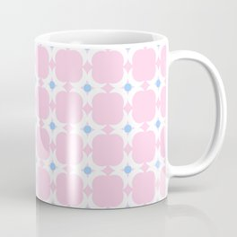 Symmetric patterns 154 blue and pink with moon Coffee Mug
