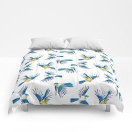 Flying Blue Tit / Bird Pattern Comforters