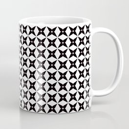 Geometric Pattern 245 (black crosses) Coffee Mug