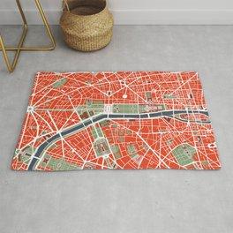 Paris city map classic Rug