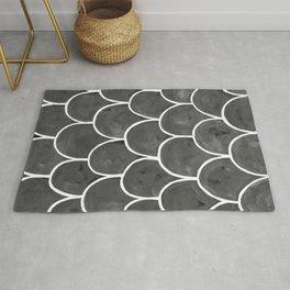Grey chalk roof tiles Rug