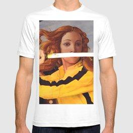 Botticelli's Venus & Beatrix Kiddo in Kill Bill T-shirt
