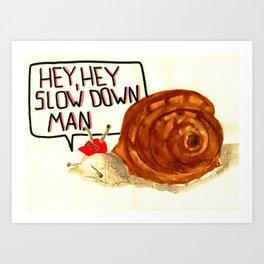 Swagg snail Art Print