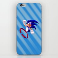 sonic iPhone & iPod Skins featuring Sonic by DROIDMONKEY