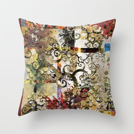 Abstract Tree of Life Throw Pillow