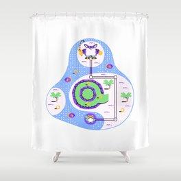 Overworld: Oasis Shower Curtain