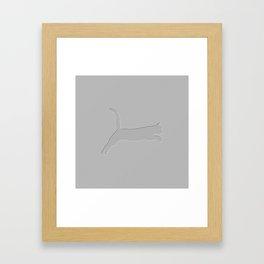 Jumping Cat - White Framed Art Print