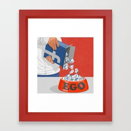 Give your ego some likes Framed Art Print