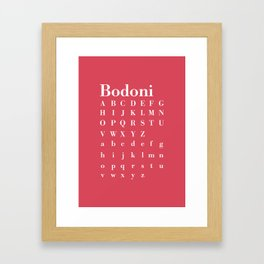 Beautiful Bodoni - Proud Framed Art Print