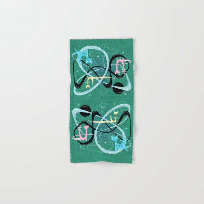 Atomic Rocket Cats In Space Hand & Bath Towel