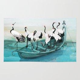 White Cranes Rug