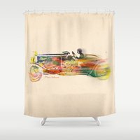 car Shower Curtains featuring car  by mark ashkenazi