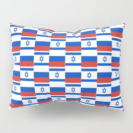 Mix of flag: israel and Russia Pillow Sham