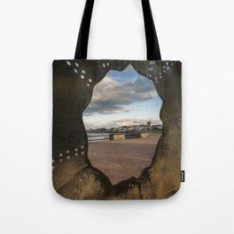 Irish landscape through a shell Tote Bag